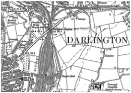 A map of Darlington