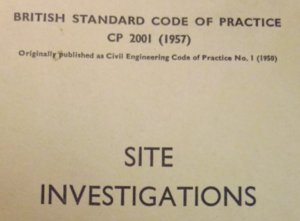 Site Investigations Code of Practice 1957