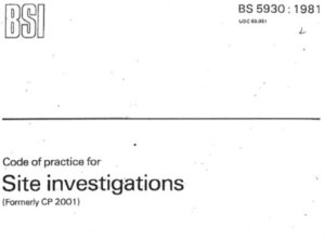 Site Investigations Code of Practice 1981