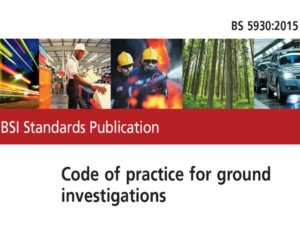 Site Investigations Code of Practice 2015